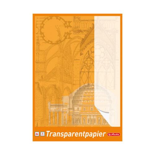 DIN A4 5 Blöcke Herlitz Transparentpapier 30 Blatt je Block