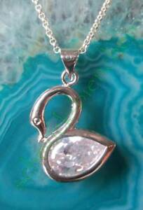 Anhänger Schwan Sterling Silber 925 Zirkonia Symbol für Unschuld und Reinheit
