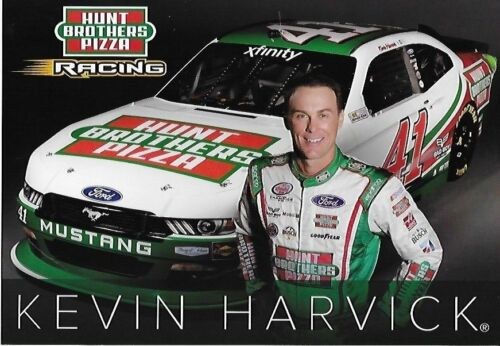 "2017 KEVIN HARVICK /""HUNT BROTHERS PIZZA/"" #41 NASCAR XFINITY SERIES POSTCARD"