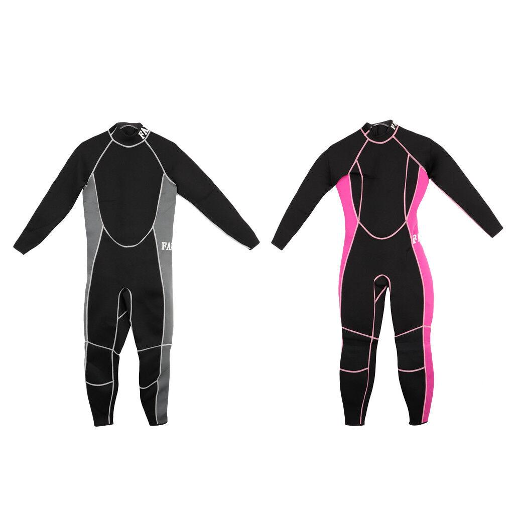 Women Men Full Body Suit Stretch Wetsuit 3mm Wet Suit Diving Equipment Surf