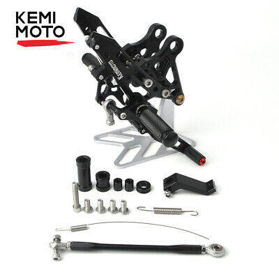 CNC Footpegs Foot Pegs Rearset Rearsets For Honda GROM MSX125 2012-2015 2014