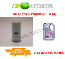 PETROL OIL FILTER + FS 5W30 ENGINE OIL FOR FORD PUMA 1.6 103 BHP 2000-02