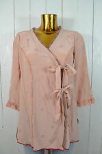 ODD MOLLY Damen Tunika Bluse Seide Wickeloptik Mod. M212-016 Vintage Rose Gr.1/S