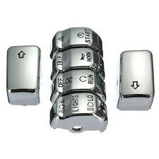 6x Chrome Control Housing Switch Button Cover Cap Fit Harley Dyna Softail XL US
