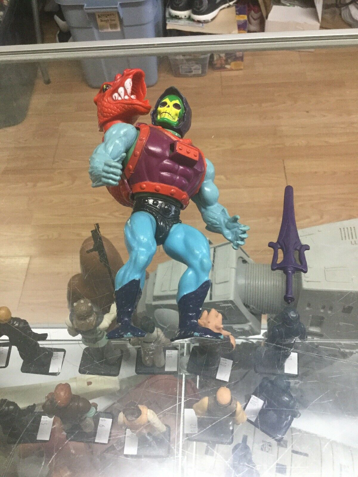 Vintage Masters Of The Universe Heman Dragon Blaster Skeletor Motu NICE