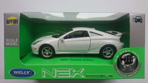 WELLY '02 TOYOTA CELICA WHITE 1:34  DIE CAST METAL MODEL NEW IN BOX