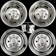 "11-16 Silverado 3500 17"" Dually Stainless Steel Wheel Simulators Dual Rim Liners"