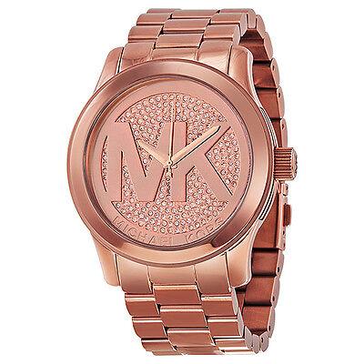 Michael Kors Runway Rose Dial Rose Gold-plated Ladies Watch MK5661