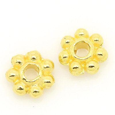 200x Gold Black Snowflake Flower Shape Metal Loose Spacer Beads Findings 4mm