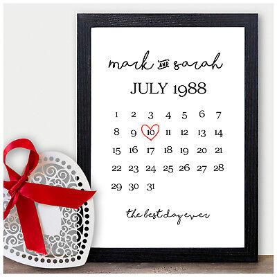 Anniversario Di Matrimonio 7 Anni.Personalizzata 1st 2nd 10th Anniversario Di Matrimonio Regali