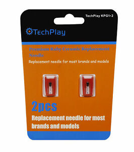2-Pack-Techplay-Ruby-Turntable-Record-Player-Needles-Jensen-Crosley-Teac-KPG1