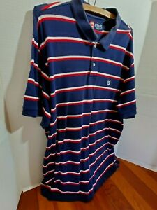Chaps Mens XXL Shirt Polo Casual Short Sleeve Pull Over Button Up Collar Vintage