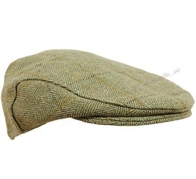 Kids Childrens Derby Tweed Flat Cap Teflon Coated Shooting Hunting Country Hat