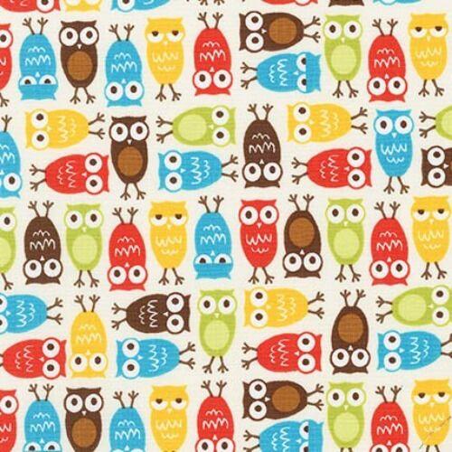 Owl Fabric Robert Kaufman Urban Zoologie Minis 100/% Cotton 15310 4 Colourways