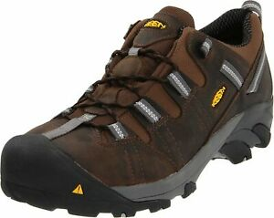 KEEN-Utility-Men-039-s-Detroit-Low-ESD-Steel-Toe-Work-Boot-Dark-Brown-12-D-US