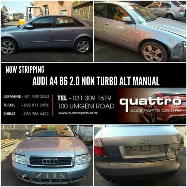 AUDI A4 B6 2.0 NON TURBO STRIPPING FOR SPARES