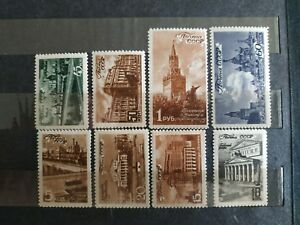 1946-USSR-Views-of-Moscow-MNH-Zag-980-987-Sc-1059-1066