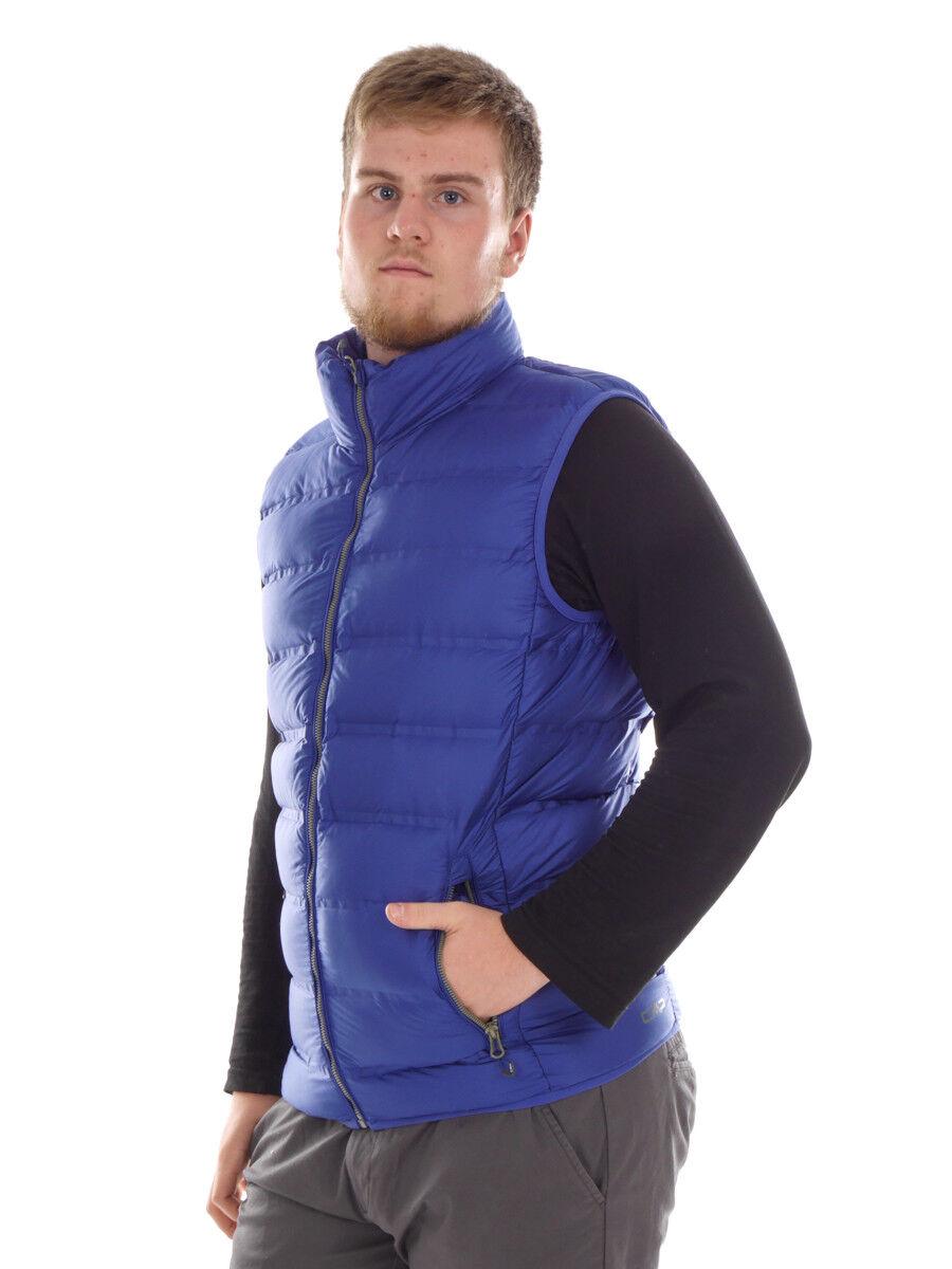 CMP Function Waistcoat down Vest Gilet blue Water-Resistant Teflon Warm