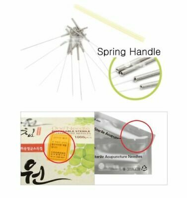 Health & Beauty Dependable Acupuncture Chinese Medical Spring Handle Health 1000pcs One Needles 0.2 X 15 Acupuncture