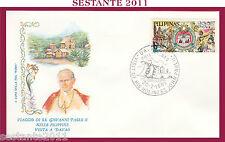 W260 VATICANO FDC ROMA VISITA PAPA GIOVANNI PAOLO II FILIPPINE DAVAO 1981