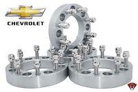 (4) 1.5 Chevy Gmc 8x6.5 Wheel Spacers 14x1.5 Studs Fits 2500 3500 Hd Trucks Suv