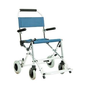 Sedie A Rotelle Pieghevoli Da Viaggio.Sedia A Rotelle Da Viaggio Carrozzina Pieghevole Leggera Anziani Disabili 8 4 Kg Ebay