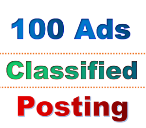 100 classified ads for Business advertisement local Website SEO google ranking