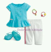 NEW AMERICAN GIRL DOLL ICE CREAM RAINBOW SPRINKLES OUTFIT