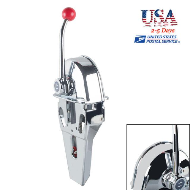 US Universal Boat Single Lever Marine Engine Control Handle Top Mount Zinc