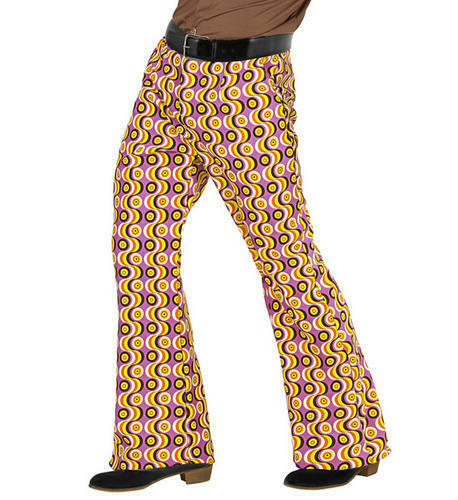 Mens Disc Trousers 70S Flares Fancy Dress Costume 1970S Disco Outfit