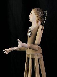 Manichino-Devozione-Pieta-Domestica-Legno-44cm-Madonna-Interior-design-Barocco