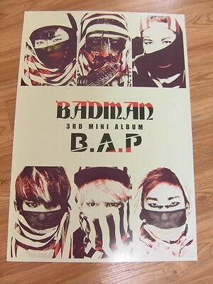 B.A.P - BADMAN [ORIGINAL POSTER] *NEW* K-POP BAP
