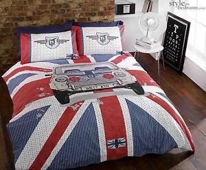 UNION JACK & Cassic MINI Cooper GT Duvet Quilt Cover Bedding Set