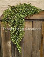 Set Of 3 Hanging Peppergrass Bush 33 Primitive Silk Arrangement Floral Decor