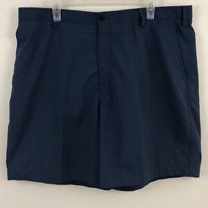 Nike-Golf-Mens-40-Blue-Dri-Fit-Flat-Front-Wicking-Stretch-Logo-Shorts