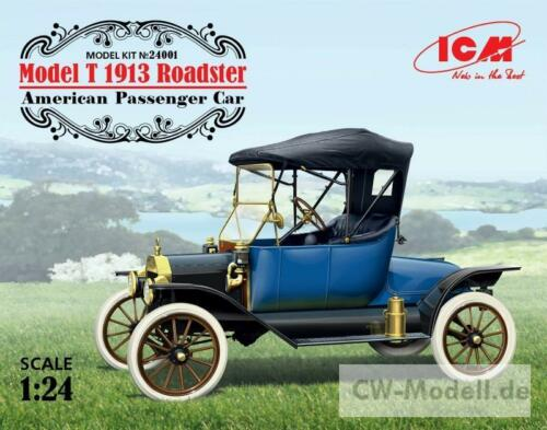ICM 24001 Ford Model T 1913 Roadster 1:24