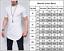 Mens-Longline-Slim-Fit-Short-Sleeve-T-Shirt-Fitness-Muscle-Basic-Sports-Tee-Tops thumbnail 3