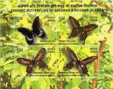 India - 10 nos - Endemic butterflies of Andaman m/s - 2008 issue - MNH