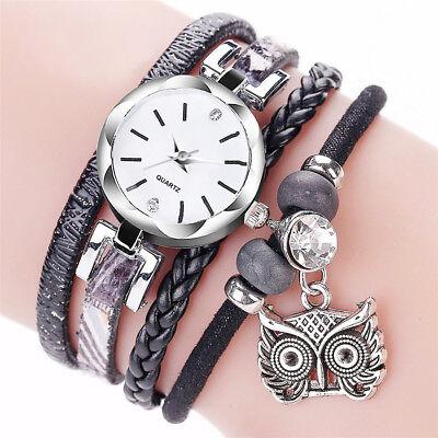 Fashion Women Girl Stainless Steel Rhinestone Bracelet Quartz Dress Wrist Watch