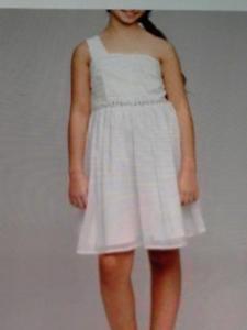 Bnwt Bhs Ivoire Une épaule Jewel Robe Fête Fleur Fille Bal Âge 12-13yea-afficher Le Titre D'origine