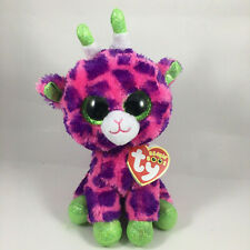 "6/"" TY Beanie Boos Gilbert Giraffe Gift Green Glitter Eyes Plush Stuffed Toys"