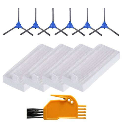 For Coredy-R300 Vacuum Parts Replacement Side-Brushes Filters Replacement Set