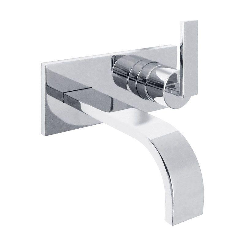 Dornbracht MEM Waschtisch-Wand-Einhandbatterie mit Platte chrom 3682278500