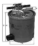 now KL440//39 Genuine Mahle KL440//14 OE Fuel Filter for Nissan Qashqi W//Sensor