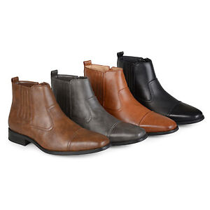 Daxx-Mens-Regular-and-Wide-Width-High-Top-Square-Toe-Chelsea-Dress-Boots