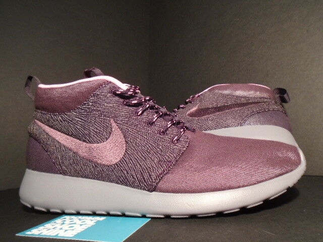NIKE ROSHE RUN ROSHERUN MID QS NYC NEW YORK CITY PACK rojo MAHOGANY PORT WINE 9.5