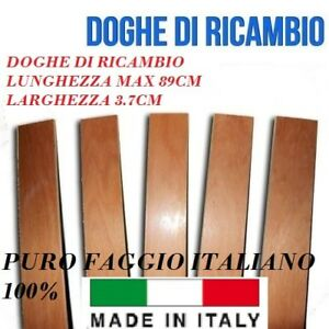 DOGA DOGHE DI RICAMBIO PER RETI LETTO IN LEGNO-TUTTE LE MISURE- LARGHEZZA 3.7 cm