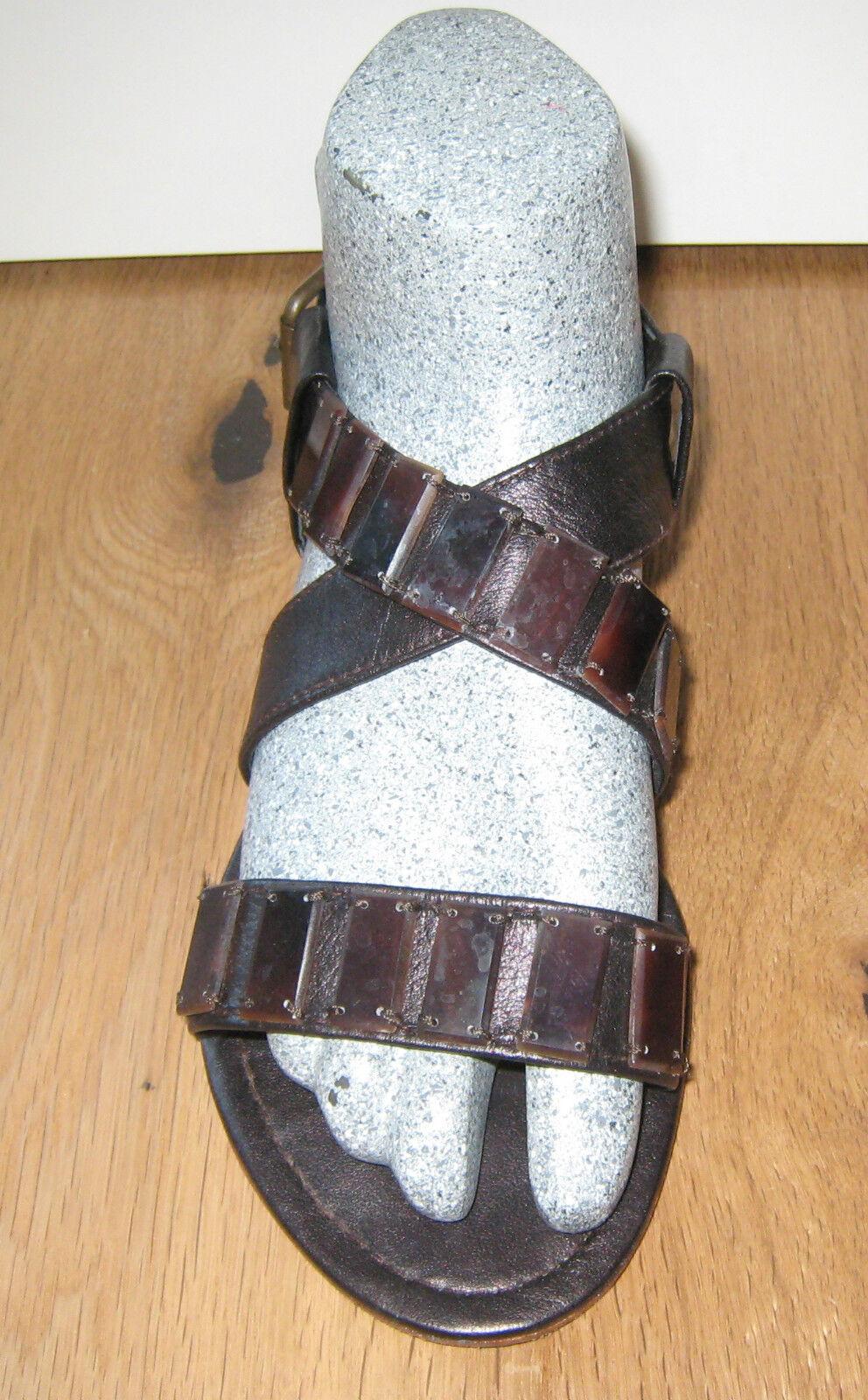 MALIPARMI SANDALO SANDALI Tg. elegante 38 marrone pietre elegante Tg. top efba17