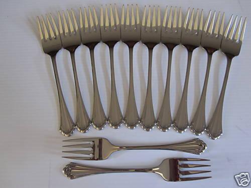 12 MARQUETTE SALAD Forks ONEIDA NOUVEAU inoxydable 18 8 livraison gratuite états-Unis Uniquement