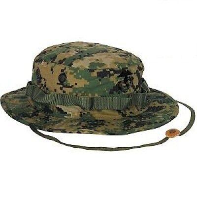 Usmc Us Woodland Marpat Digital Army Mütze Cap Boonie Hat Mit Eag Medium